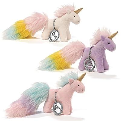 Gund, Unicorn Rainbow Poof Tail Keychain