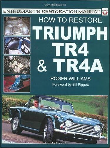 Amazonfr How To Restore Triumph Tr4 Tr4a Roger Williams Livres