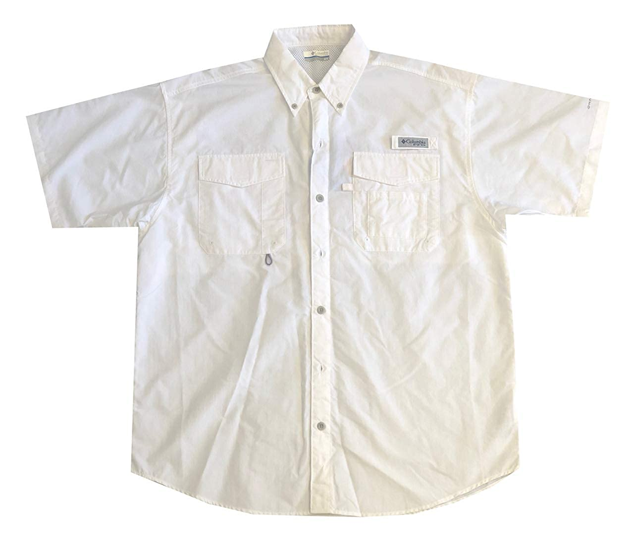 6870c5db694 Columbia Men's PFG Omni-Shade UPF 30 Distant Water Short Sleeve Vented Shirt  at Amazon Men's Clothing store: