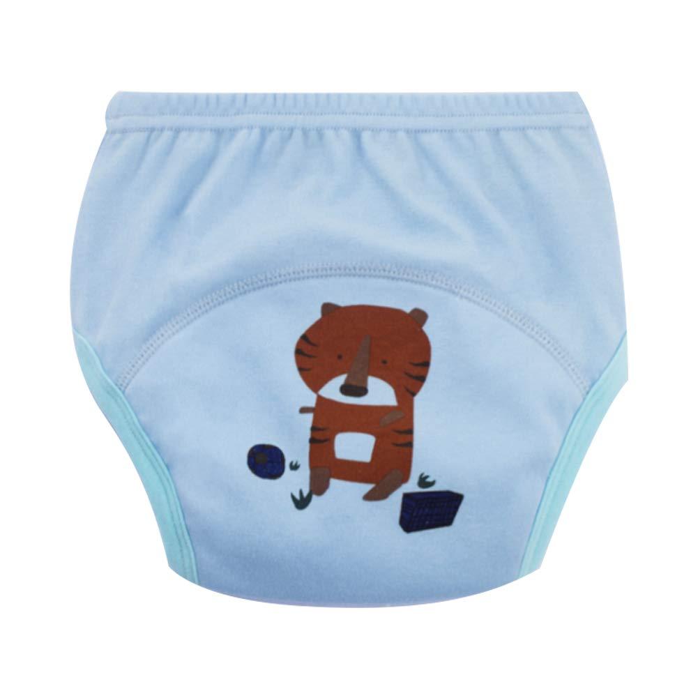 Newin Star Braga de aprendizaje para bebés, Pañales de tela Calzones de entrenamiento para bebés niño de algodón cambiante con dibujo de tigre (S)