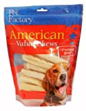 Pet Factory American Beef Hide Chip Rolls Chews for Dogs (16 Pack), Small/5''