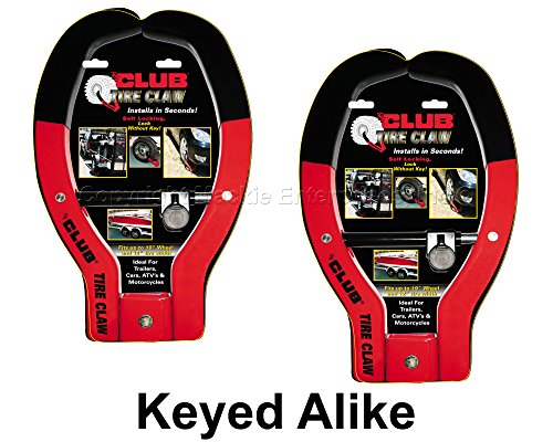 Tire Claw XL Lock - ATV, Auto, Trailer Locks #491KA-2 (Club Tire Claw)