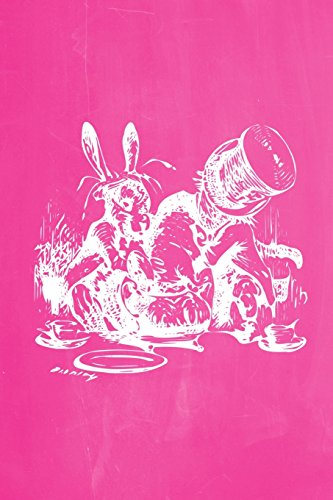 Alice in Wonderland Pastel Chalkboard Journal - Mad Hatter's Tea Party (Pink): 100 page 6
