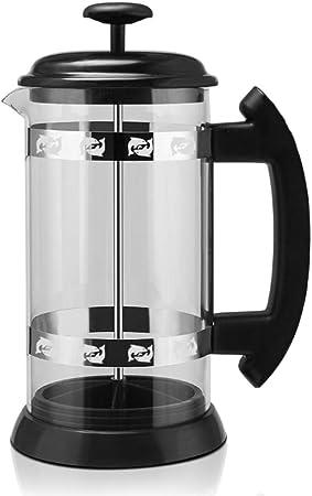 Prensa francesa Cafetera 1000 ML Termo de vidrio de acero inoxidable Barista Herramientas Café Jarra Percolador Inicio Mano Punch Pot,Clear: Amazon.es: Hogar