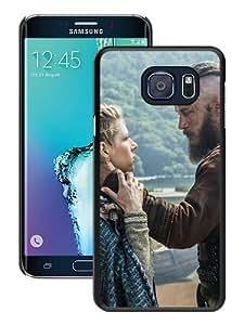 Durable High Quality Vikings Historical Drama Travis Fimmel Ragnar Lothbrok Katheryn Winnick Lagertha Black Samsung Galaxy S6 Edge Plus Screen Phone Case