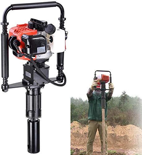 Gas T Post Driver 2 Stroke 32.7cc Manual Portable Lightweight Petrol Piledriver Handheld Pile Pounder