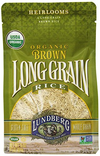 Lundberg Organic Long Grain Rice, Brown, 16 Ounce (pack o...
