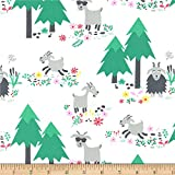Michael Miller Goat Island Goat Island Fabric, White, Fabric By The Yard