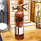 Cxmm Tabletop Wine Rack Fire Extinguisher Metal Bottle Holder Handcrafted Modern Art Home Decor Bar Accessory Unique Design Creative Gift