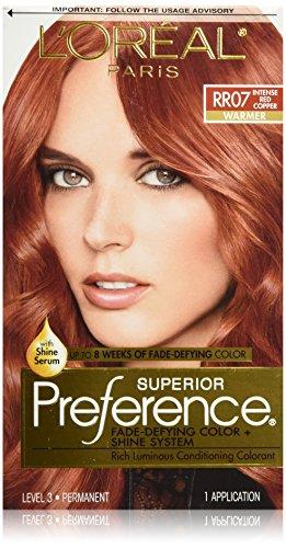 L'Oréal Paris Superior Preference Permanent Hair Color, RR-07 Intense Red Copper