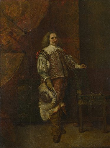 Perfect Effect Canvas ,the Replica Art DecorativePrints On Canvas Of Oil Painting 'Ignacio De Leon Y Escosura A Man In 17th Century Spanish Costume ', 8 X 11 Inch / 20 X 27 Cm Is Best For Study Decoration And Home Decoration And Gifts