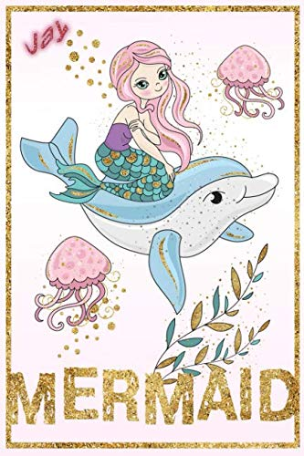 Jay Mermaid: Wide Ruled   Composition Book   Diary   Lined Journal