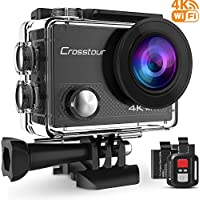 Crosstour Action Camera 4K WIFI Underwater Cam 16MP Ultra...