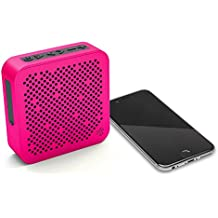 JLab Audio Crasher MINI, METAL BUILD Portable Splashproof Bluetooth Speaker with 10 Hour Battery - Pink