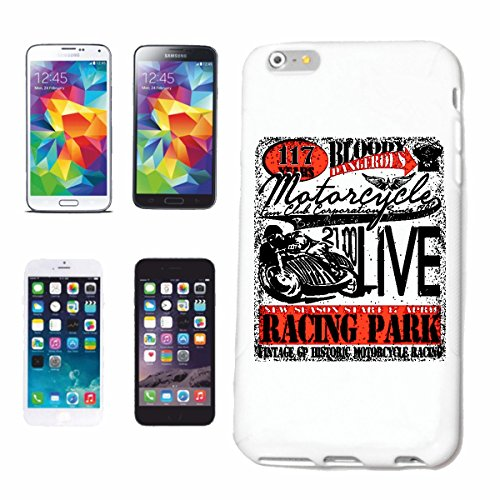 """cas de téléphone iPhone 7+ Plus """"MOTO RACING PARK MOTO CLUB CYCLISTE Motorradfahrer MOTORSPORT MOTO RACE EVENT"""" Hard Case Cover Téléphone Covers Smart Cover pour Apple iPhone en blanc"""