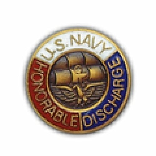 MilitaryBest USN Honorable Discharge Lapel Pin 2 Pack