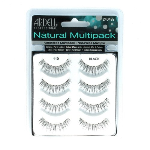 (3 Pack) ARDELL Professional Natural Multipack - 110 Black by (Multi Pack Natural)