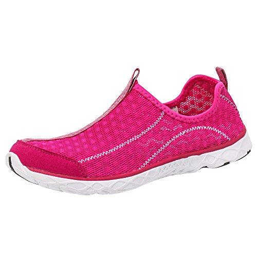 ALEADER Frauen Mesh Slip On Water Schuhe Rosa 8521a