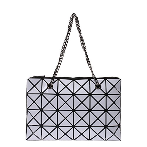 White Coréenne Mode Diagonale Sac Bandoulière Lingge Main à De à Sac à La Bag Main Couture Sac Main Version Pliable CY Dames Sac à qBgFfO