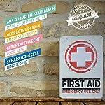 Nostalgic-Art Boîte en Fer Blanc Plate Style rétro pour kit de Premiers Secours Imprimé First Aid 23 x 16 x 7 cm 9
