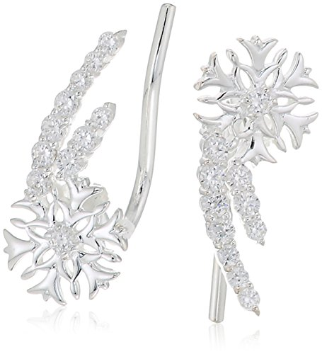 chamilia snowflake climber earrings - swarovski zirconia for sale  Delivered anywhere in USA