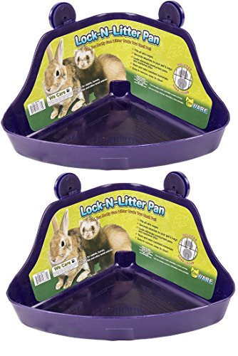 (2 Pack) Ware Manufacturing Plastic Lock-N-Litter Pan for Small Pets - Size Regular - Lock N-litter Pan