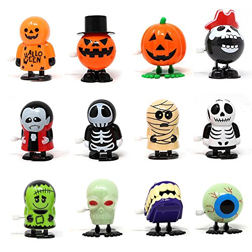 Saundra Peal Halloween Wind Up Toy Assortments for Halloween Party Favor Goody Bag Filler (Pack of -