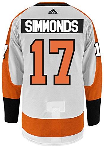adidas Wayne Simmonds Philadelphia Flyers Authentic Away NHL Hockey Jersey