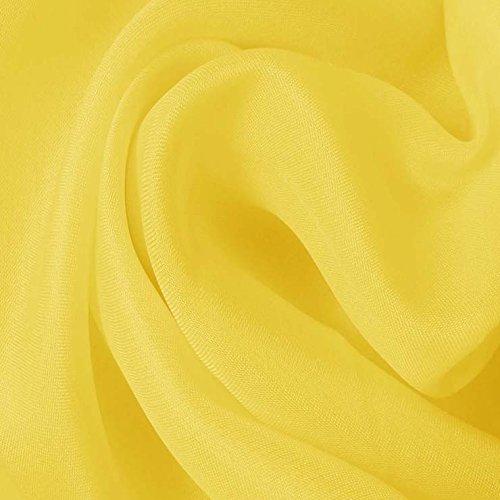 Yellow Silk Organza - 6