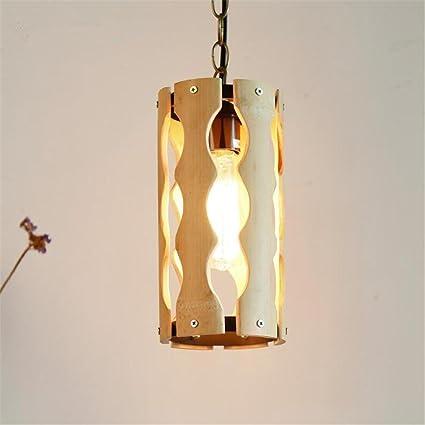 Lámpara Retro de Madera Calada Curva pequeña Colgante Luces ...