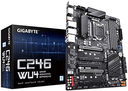 Gigabyte C246-WU4 (Intel C246 Express Chipset/ATX/DDR4/Dual Intel Server GbE LAN/10xSATA3/2xM.2/Server Motherboard) (Intel Motherboard Processor Combo)