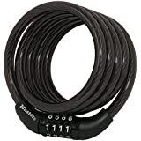 8143D Bike Lock Cable with Combination #. 01-Pack/Black