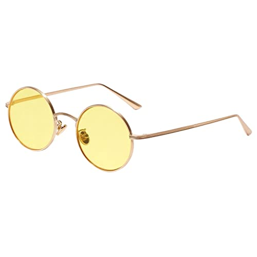 Gazechimp 1pc Gafas de Protección UV Lente Redondo De Moda Conducción Deportes Aire Libre Pesca Viaj...