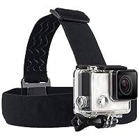 TEKCAM Wearing Headband Correa para la cabeza Banda de montaje con tornillo Compatible con Gopro Hero 7 6 5 /APEMAN /AKASO /DBPOWER /Campark /WIMIUS /Crosstour 4K Action Outdoor Outdoor Camera (Cámara no incluida)