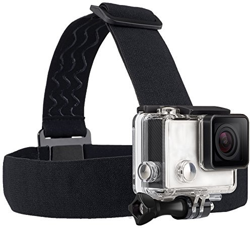 TEKCAM Wearing Headband Head Strap Belt Mount with Screw Compatible with Gopro Hero 7 6 5/APEMAN/AKASO/DBPOWER/Campark/VanTop/Ncool/Crosstour 4K Action Sports Outdoor Camera (Camera Not Included) ()
