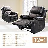Merax Power Massage Reclining Chair with Heat and Massage Heated Vibrating Suede Massage Recliner