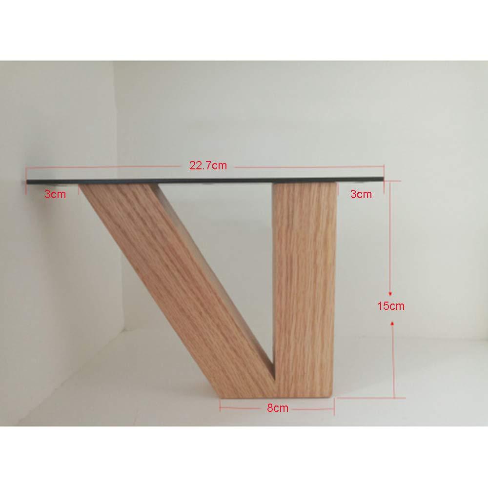 pie de Soporte Cama Mueble para TV HRD Patas de los Muebles de Madera Maciza: Mesa de Centro gabinete de ba/ño pies Que Aumentan la Altura 15 cm