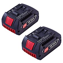 Topbatt 2Pack 18V 4.0Ah Replacement Battery for Bosch Lithium Bat620 Bat609 Bat609g Bat618 Bat618 Cordless Power Tools