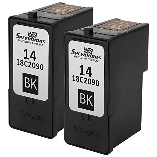 Speedy Inks - 2PK Remanufactured Lexmark #14 / 18C2090 Black Ink Cartridge for Lexmark X2600, X2630, X2650, X2670, Z2300, and Z2320 Printers