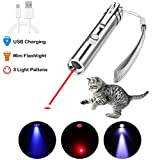 AOKON Cat Laser Pointer USB [Rechargeable] 3 in 1 Cat Dancer Toys Interactive LED Light Chaser Teaser Wand Toys for Cats Dogs Catch Teasing Scratching Training