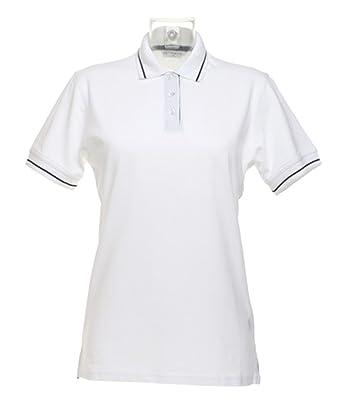 Kustom Kit Damen Poloshirt Piqué Shirt St Mellion &Quot;kk706 Weiß/Navy 20