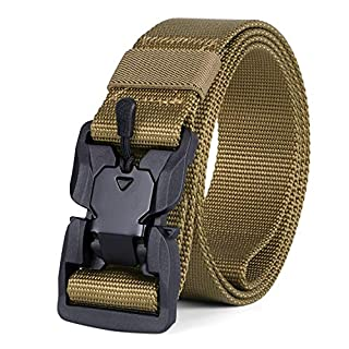 JASGOOD Tactical Belt with Magnetic Quick Release Buckle,Men Military Belt-Nylon Rigger Belt gift for Father's Day