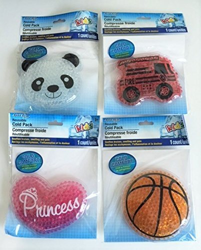 Reusable Cold Pack for Kids - Kid Themed/assorted - 2 Pack!