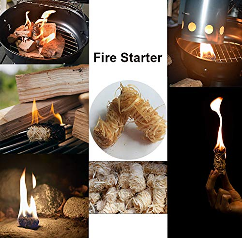Veksun Fire Starters,Charcoal Starters Wood Wool Duraflame Long Burning Natural Kindling for Fireplace,Campfire,Fire Pit, BBQ Grill,Wood Pellet Stove,Log Burner,Pizza Oven,Smokers 32 Pcs