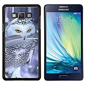"Be-Star Único Patrón Plástico Duro Fundas Cover Cubre Hard Case Cover Para Samsung Galaxy A7 / SM-A700 ( Lindo nieve búho del invierno feroz pluma"" )"