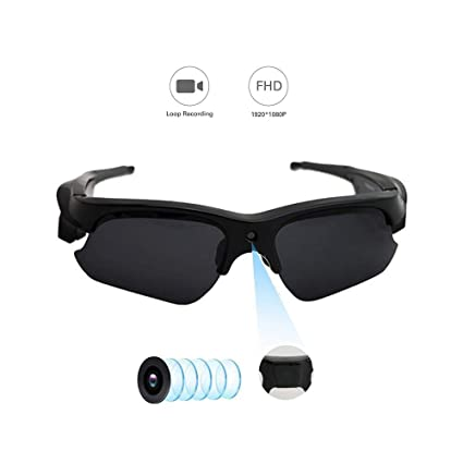 727023dc551c Hidden Camera on Glasses, YMS Spy Camera – Full HD 1080P POV Hands Free Sunglasses  Camera with Audio Fully Certified Polarized Lens 110 Wide Angle Outdoor ...
