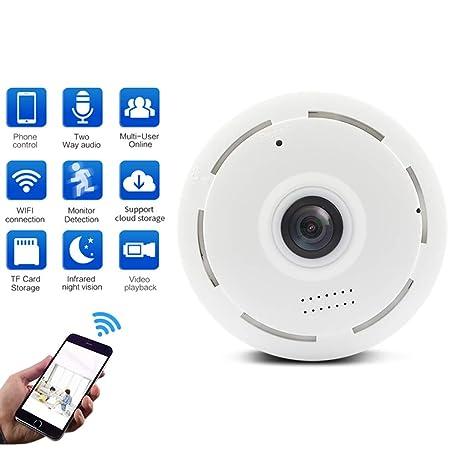LLCOFFGA CáMara EspíA De Mini Vigilancia Oculta CáMara De Seguridad HD WiFi Audio Bidireccional VisióN Nocturna