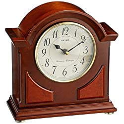 Seiko 9 Brown Wooden Case with Chime Mantel Clock