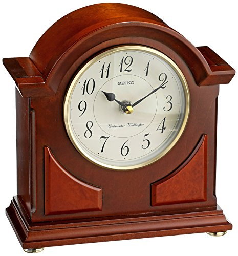 (Seiko Mantel Chime Clock Brown Wooden Case )