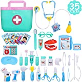 NextX Doctor Kit, 35 Pieces Pretend Play Toys Kids Electronic Stethoscope Dentist Medical Kit Gifts...